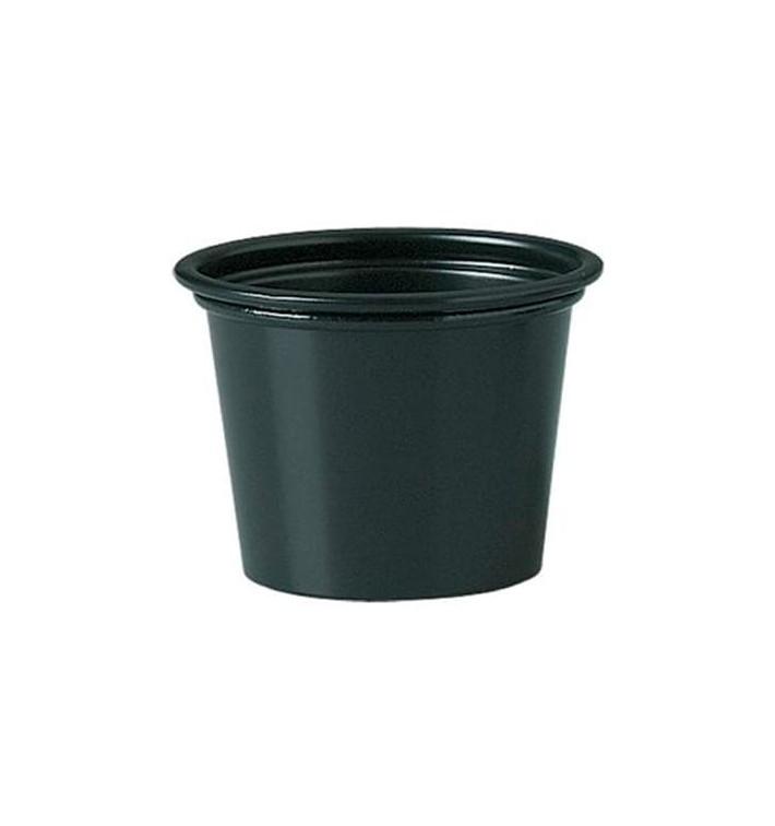 Dressingbecher PP für Soβen schwarz 30ml Ø48mm (2.500 Stück)