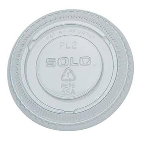 Deckel ohne Loch PET Glasklar Ø6,6cm (2500 Stück)