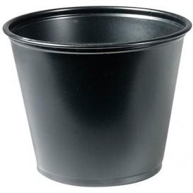 Dressingbecher PP für Soβen Schwarz 165ml Ø73mm (125 Stück)
