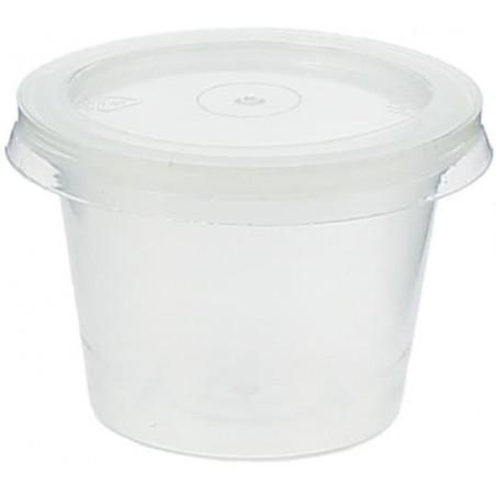 Tarrina para Salsas PP 33 ml  con tapa (Paquete 100 unidades)