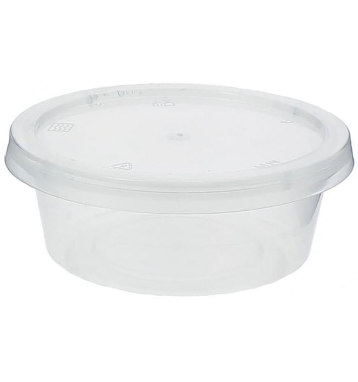 Dressingbecher PP Trans. mit Deckel 85ml (100 Stück)