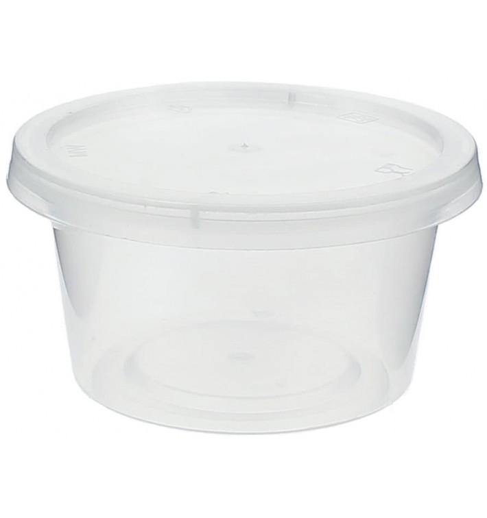 Dressingbecher PP Trans. mit Deckel 120ml (100 Stück)