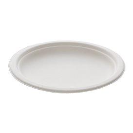 Teller Zuckerrohr Weiß Ø180mm (500 Stück)