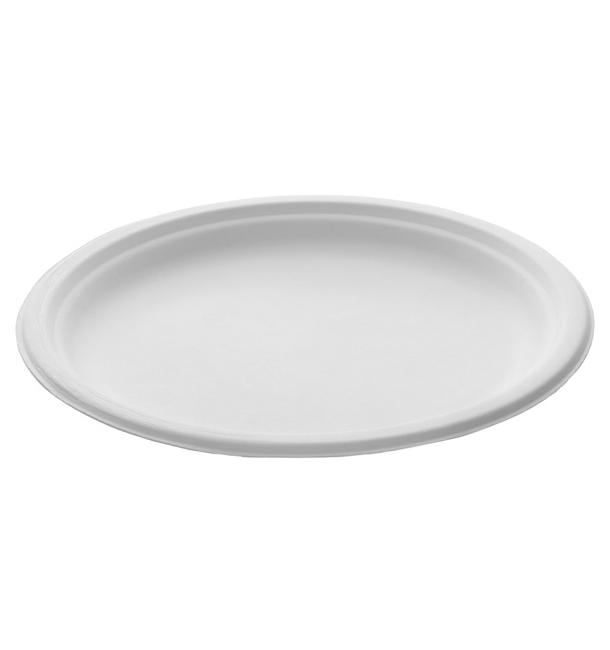 Teller Zuckerrohr Weiß Ø260mm (250 Stück)