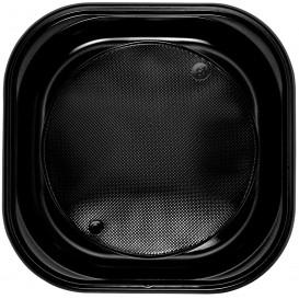 Plastikteller PS Platz flach Schwarz 200x200mm (720 Stück)