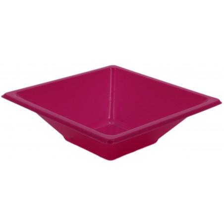 Viereckige Plastikschale Pink 120x120x40mm (12 Stück)