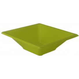 Viereckige Plastikschale Pistazie 12x12cm (25 Stück)