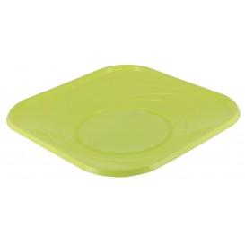 "Plastikteller PP ""X-Table"" Platz flach Lime 230mm (120 Stück)"
