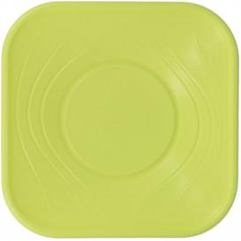 "Viereckige Plastikschale PP ""X-Table"" Lime 180x180mm (120 Stück)"