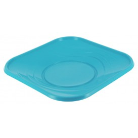 "Plastikteller PP ""X-Table"" Platz Türkis 180mm (8 Stück)"