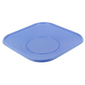 "Plastikteller PP ""X-Table"" Platz flach Violett 230mm (120 Stück)"