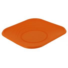 "Plastikteller PP ""X-Table"" Platz flach Orange 230mm (8 Stück)"
