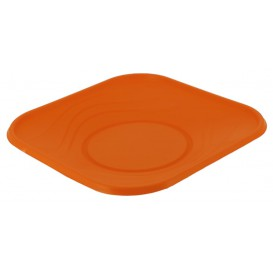 "Plastikteller PP ""X-Table"" Platz flach Orange 230mm (120 Stück)"
