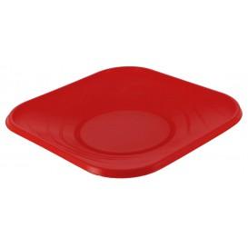 """Plastikteller PP """"X-Table"""" Platz flach Rot 230mm (8 Stück)"""