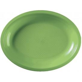 Plastiktablett Oval Grasgrün Round PP 315x220mm (300 Stück)