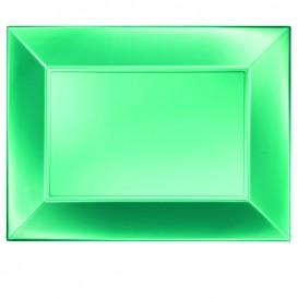Plastiktablett Grün Nice Pearl PP 345x230mm (6 Stück)