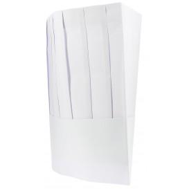 Kochmütze Le Chef Papier weiß (10 Stück)