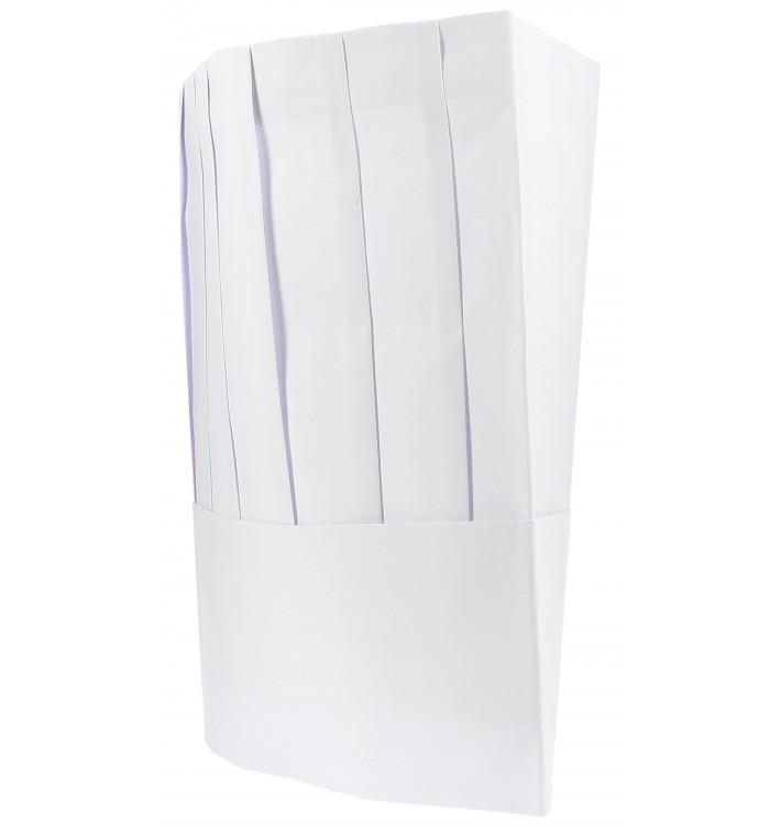 Kochmütze Le Chef Papier weiß (100 Stück)