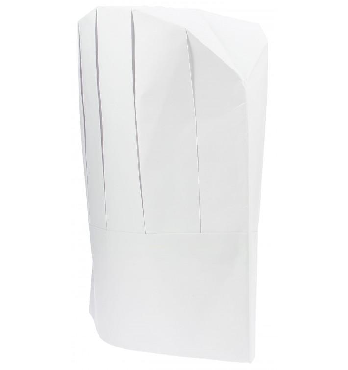 Kochmütze Continental Kind Papier weiß (100 Stück)