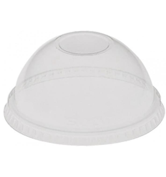 Domdeckel ohne Loch PET Glasklar Ø9,2cm (1000 Stück)
