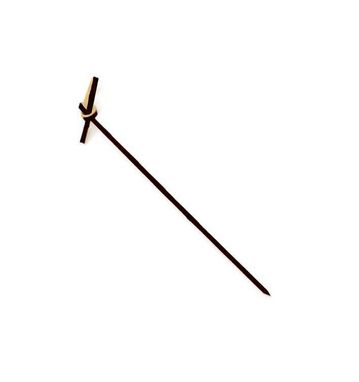 Bambusspieße Schleife Schwarz 90mm (100 Stück)