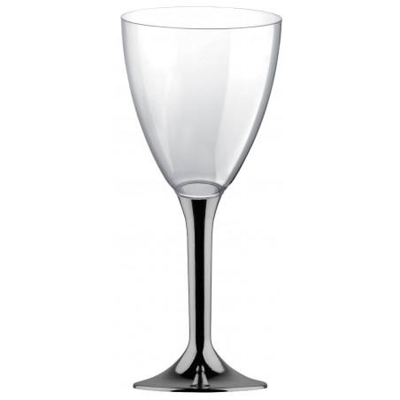 Glas aus Plastik für Wein Nickel Chrom Fuß 300ml 2T (20 Stück)