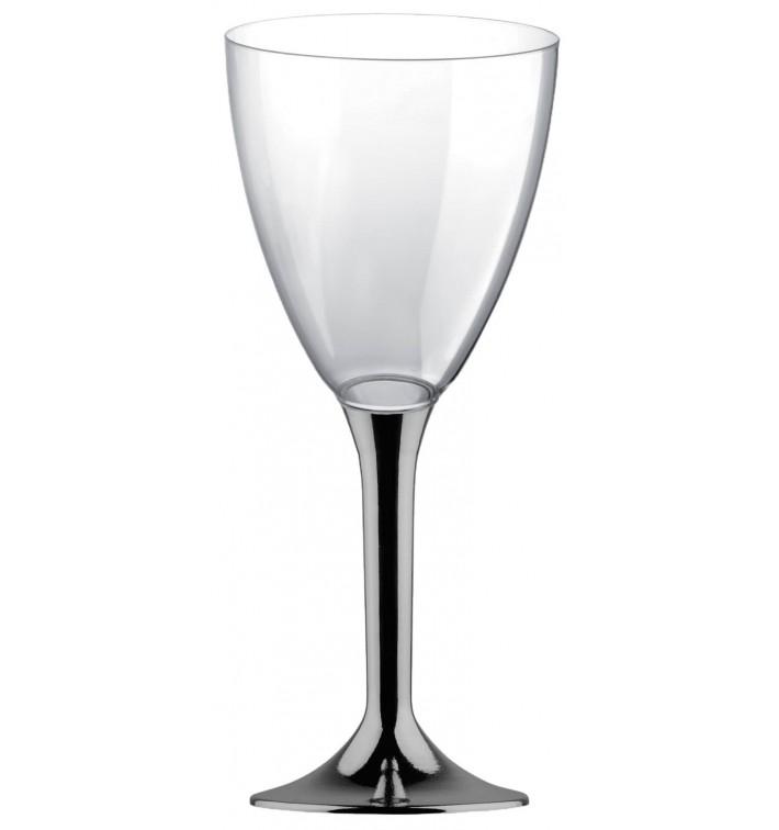 Glas aus Plastik für Wein Nickel Chrom Fuß 300ml (200 Stück)