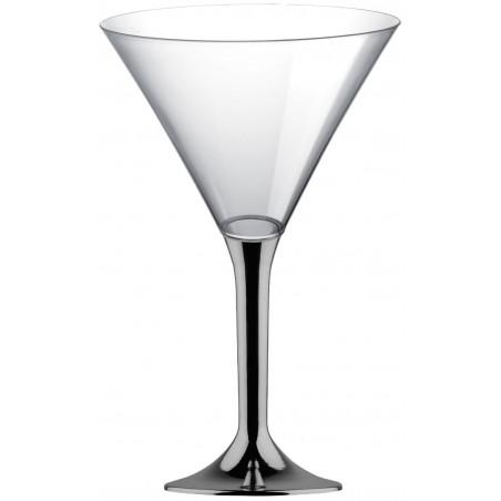 Martinigläser aus Plastik mit Nickel Chrom Fuß 185ml 2T (20 Stück)