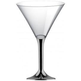 Martinigläser aus Plastik mit Nickel Chrom Fuß 185ml (200 Stück)