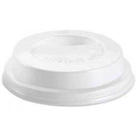 Deckel für Becher mit Trinkloch weiß 6 und 8Oz Ø7,9cm (100 Stück)