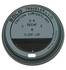 Deckel für Becher mit Trinkloch schwarz 6 und 8Oz Ø7,9cm (100 Stück)