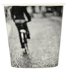 """Karton Kaffeebecher """"Parisian"""" 4Oz/120 ml Ø6,2cm (1000 Stück)"""