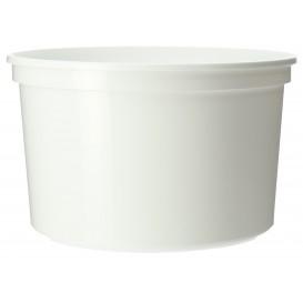 Weiße runde Dose 500ml (50 Einheiten)