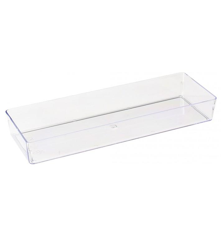 Transp. Plastiktablett 4,6x13cm (50 Stück)