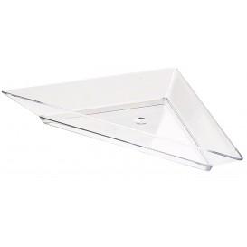 Transp. Plastik Teller Dreieckig 5x10cm (8 Einh.)