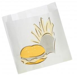 Burgerpapier fettdicht 15+5x16cm