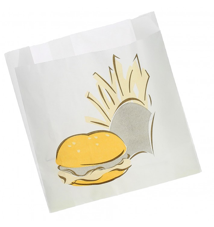 Burgerpapier fettdicht 15+5x16cm (1000 Stück)