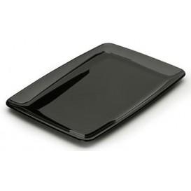 Plastikplatte rechteckig extra hart schwarz (20 Stück)