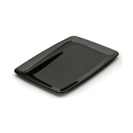 Plastikplatte rechteckig extra hart schwarz (100 Stück)