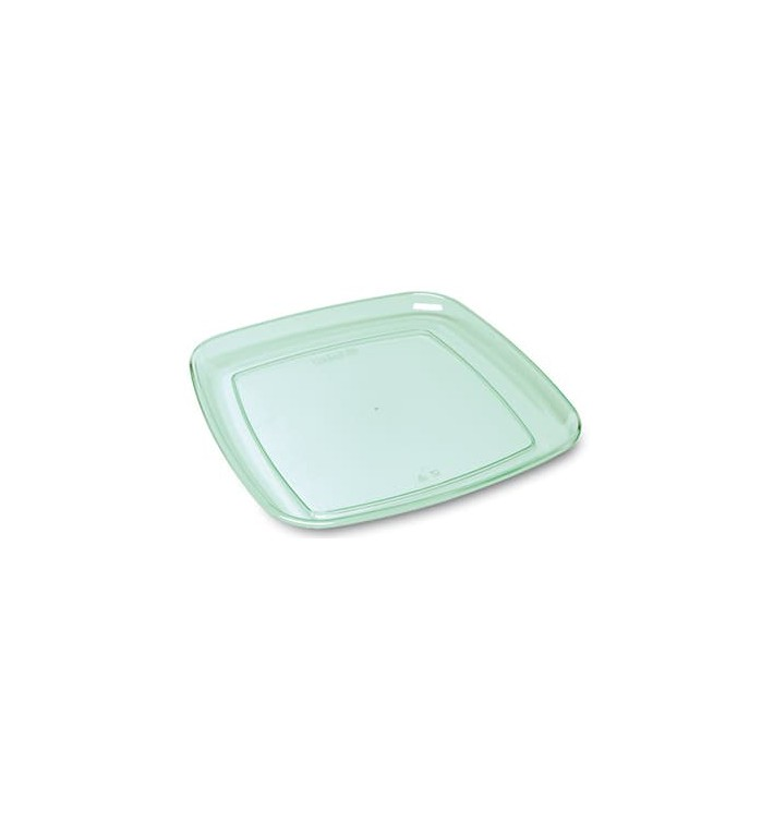 """Plastikplatte extra hart """"Water Green"""" 35x35cm (25 Stück)"""