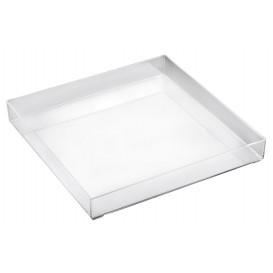 Serviertablett Plastik Tray Transp. 30x30cm (9 Stück)