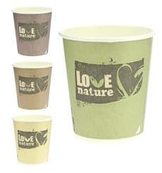 Bio Kaffeebecher to go PLA 6 Oz/192ml Ø7,0cm (100 Stück)