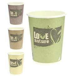 Bio Kaffeebecher to go PLA 9 Oz/270ml Ø8,0cm (1.000 Stück)