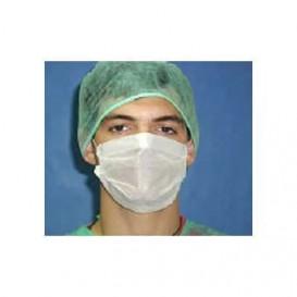 Mundschutz 3 lagig mit elastischen Ohrschlaufen weiß (50 Stück)