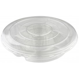Plastikschalen PET 5F und Deckel Ø35x7cm (50 Stück)