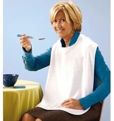 Lätzchen für Erwachsene mit Tasche weiß 36x65cm (125 Stük)