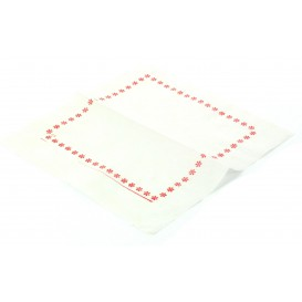 Papierservietten mit Zickzackfalz 14x14 blau und rot (250 Stück)