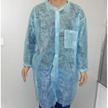 PP Schutzmäntel Klettverschluss Mit Tasche Blau XL (1 Stück)