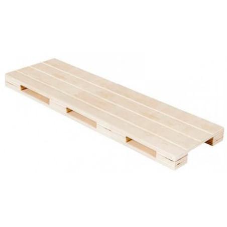 Holztablett Mini Paletten aus Holz 40x15x2cm (1 Stück)