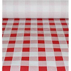 Papiertischdecke rot kariert 1x100m 40g (6 Stück)